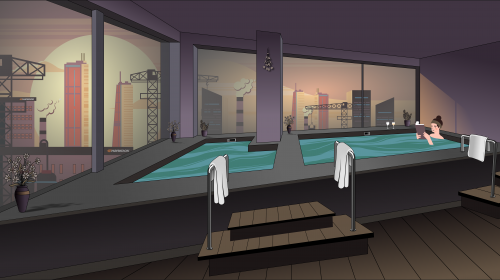 Azalea Suites Relax Onsen Cartoon