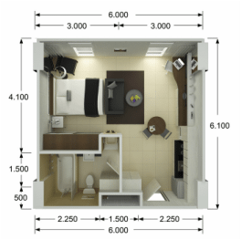Studio Suites Floor Plan