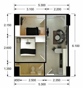 Two Bedroom Suites Floor Plan